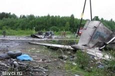 При аварийной посадке на шоссе в Карелии разбился Ту-134
