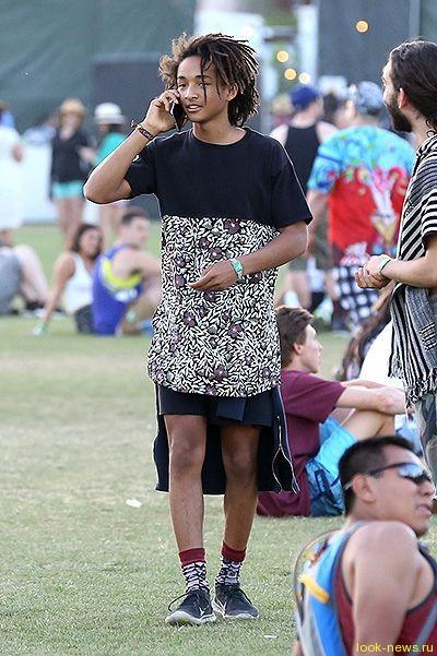 Сын Уилла Смита появился в платье на фестивале Coachella-2015