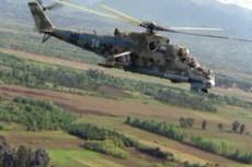 """Дагестане упал и сгорел боевой вертолет Ми-24 """"Крокодил"""""""