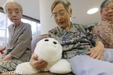 Японские пенсионеры играют с роботами