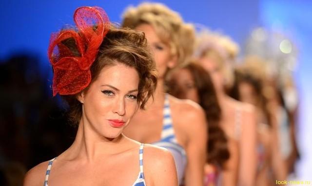 В Майами, штат Флорида, показали купальники нового сезона, здесь прошел показ Mercedes-Benz Fashion Week 2013