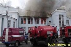 В Мозыре сгорел драмтеатр