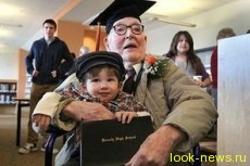 Выпускником школы американец стал в 106 лет