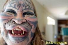 Единственный в мире человек имеет татуировку на 100 % своего тела