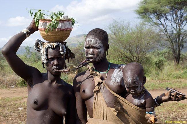 Африканское племя Мурси