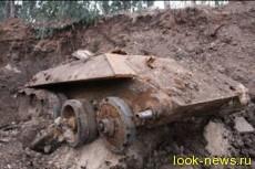 В Холоне найден закопанный советский танк Т-34