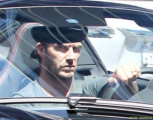 Дэвид Бекхэм попал в аварию вместе с сыном.