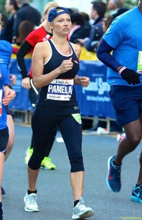 Памела Андерсон пробежала 42 км на Нью-Йоркском марафоне