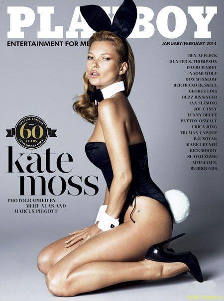 Кейт Мосс стала сексапильным зайчиком для юбилейного выпуска журнала Playboy