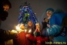 В новогоднюю ночь на Евромайдане съели 300 кг «Оливье»