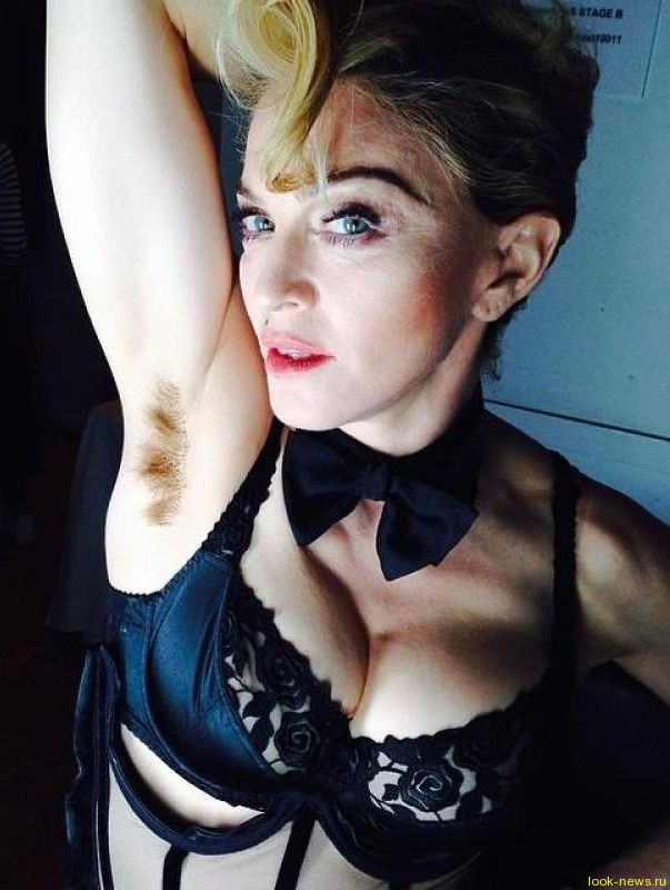 Мадонна шокировала поклонников волосатыми подмышками