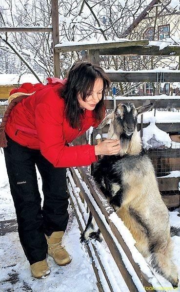 Евгения Добровольская встретила Новый год с козами