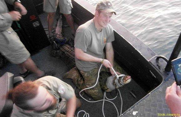 Принц Гарри принял участие в отлове австралийского крокодила
