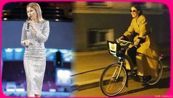 Ксения Собчак пересела на велосипед