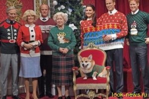 Восковая королевская семья похвасталась рождественскими свитерами